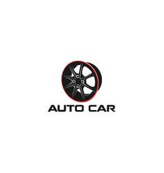 Rim logo - automotive car workshop logo vector