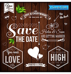 Save the date for personal holiday Wedding set on vector image