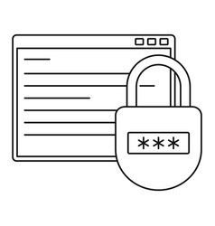secured program icon outline style vector image