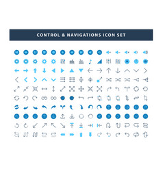 set control and navigations icon with flat vector image