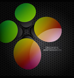 Shiny gloss colors circular shapes scene vector