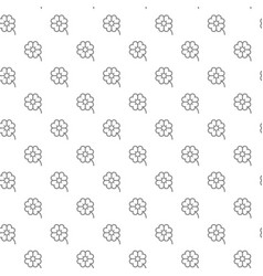 Simple four leaf clover seamless pattern with vector