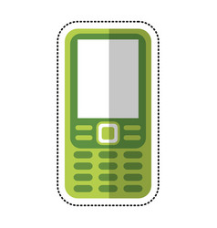 Smartphone mobile technology retro vector