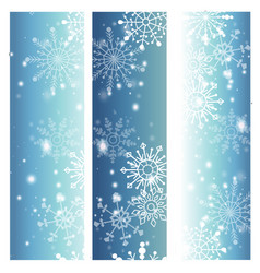 snowflakes on blue background for winter vector image