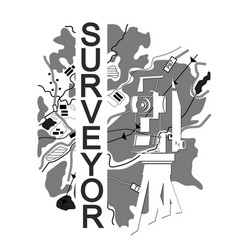 symbol for surveyor vector image