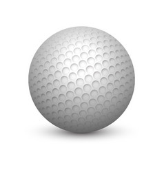textured golf ball with shadow or shade vector image