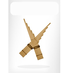 Three Musical Pan Flute vector image