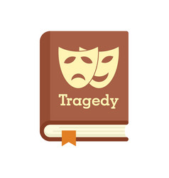 tragedy literary genre book icon flat isolated vector image