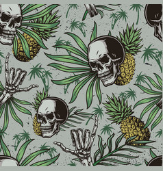 tropical vintage seamless pattern vector image
