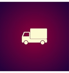 Truck icon Flat design style vector image vector image
