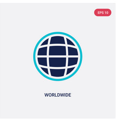 Two color worldwide icon from delivery and vector