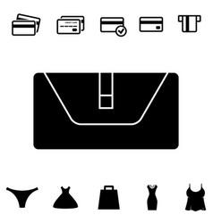 wallet or pocketbook icon vector image