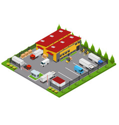 warehouse concept 3d isometric view vector image