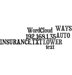 ways to lower your auto insurance text word cloud vector image