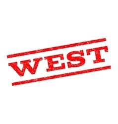 West Watermark Stamp vector