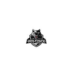 wolf head sport icon logo vector image