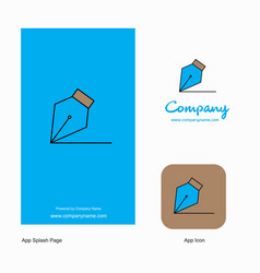 writing company logo app icon and splash page vector image