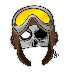 Zombie invasion paper mask - wwii pilot vector
