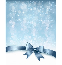 Christmas Holiday background with gift glossy bow vector image vector image