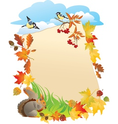 frame with Autumn Leafs vector image vector image