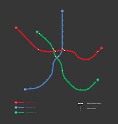metro map vector image