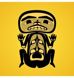 Modern stylization of Canadian native art a man vector image
