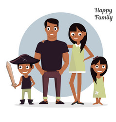 mom dad with a daughter and son vector image vector image