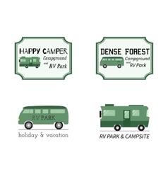 Outdoor activity travel logo vintage labels design vector
