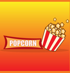 popcorn design card vector image