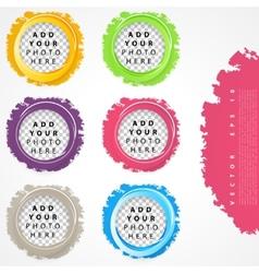 Set of color circles vector image
