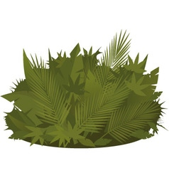 Tropical greenery vector