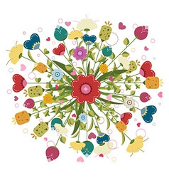 Colorful bouquet made of flowers vector image vector image