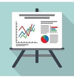 Flipchart whiteboard screen with marketing data vector image