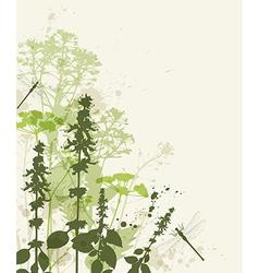 green abstract grass vector image vector image