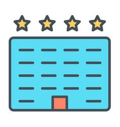hotel line icon simple minimal 96x96 pictogram vector image