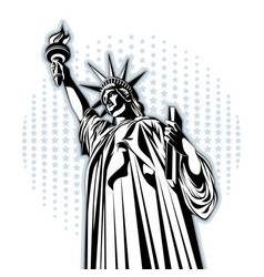 statue of liberty american symbol new york vector image
