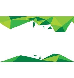 Background trangle green vector