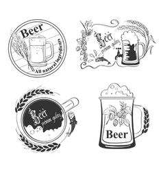 Beer emblems vector image