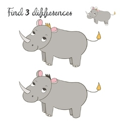 Find differences kids layout for game rhino vector