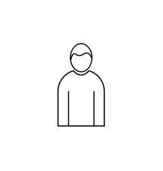 male human linear icon vector image vector image