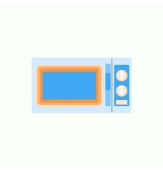 Microwave icon in flat style kitchenware vector image vector image