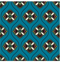 seamless floral paisley ornament pattern vector image vector image