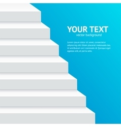 Stairs Step Banner vector image