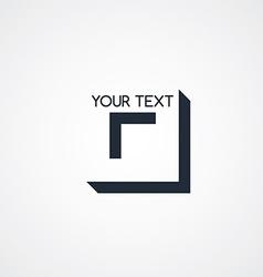 letter logotype theme vector image