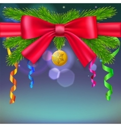 New year composition with bow vector image
