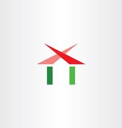 real estatr home house logo sign vector image