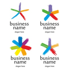 star logo brush vector image vector image