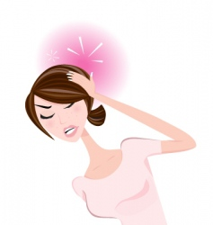 woman with headache vector image vector image