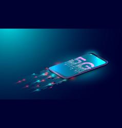 5g internet technology background next generation vector