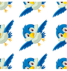 a bird flying seamless background vector image